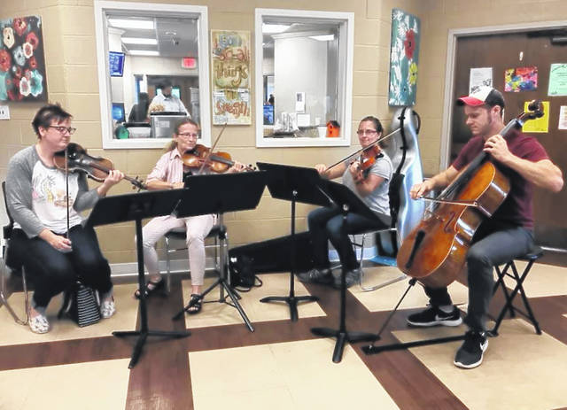 "A string quartet with the Lima Symphony Orchestra performs as part of its ""Healing Through Music"" project."
