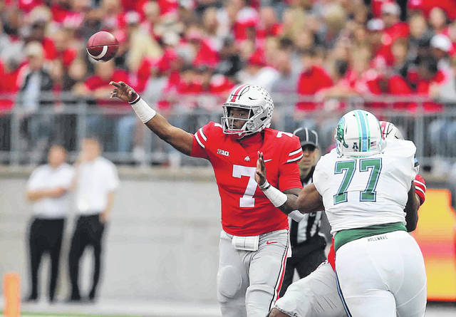 Ohio State's Dwayne Haskins, shown here earlier in the season, said he is receptive to running but has had success throwing.