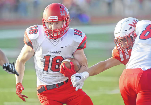 Van Wert's Jake Hilleary has rushed for more than 1,000 yards this year and is a key component in the Cougars' offensive attack.