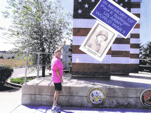 Terry L. Ballinger purchased a brick at the flag monument in Lima.