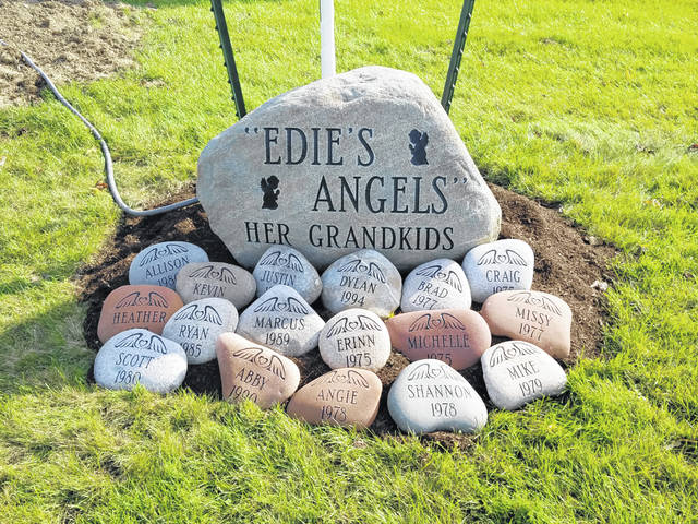 The Calvelage family has made several stone memorials to celebrate and honor their family members.