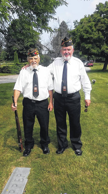 Kriegel with Ray, a World War II veteran. The two do military funerals together.