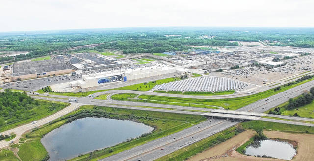 An aerial view of the General Motors Lordstown, Ohio assembly plant in 2017.