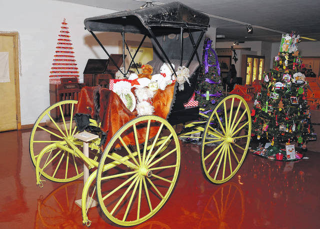 The Allen County Museum's exhibits are decorated for the holidays.