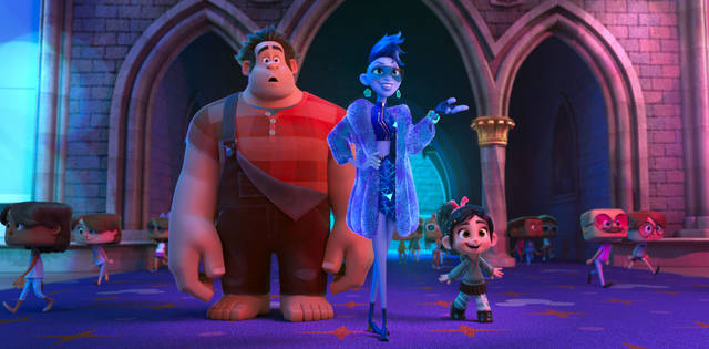 "FILE - This image released by Disney shows characters, from left, Ralph, voiced by John C. Reilly, Yess, voiced by Taraji P. Henson and Vanellope von Schweetz, voiced by Sarah Silverman in a scene from ""Ralph Breaks the Internet."" Thanksgiving leftovers led the box office, as Disney's ""Ralph Breaks the Internet"" grossed $25.8 million to repeat as the No. 1 film in U.S. and Canadian theaters. The ""Wreck-It Ralph"" sequel dropped steeply after nearly setting a Thanksgiving record last weekend. But with only one new film in wide release, nothing came close to ""Ralph Breaks the Internet"" in the typically quiet post-Thanksgiving weekend."