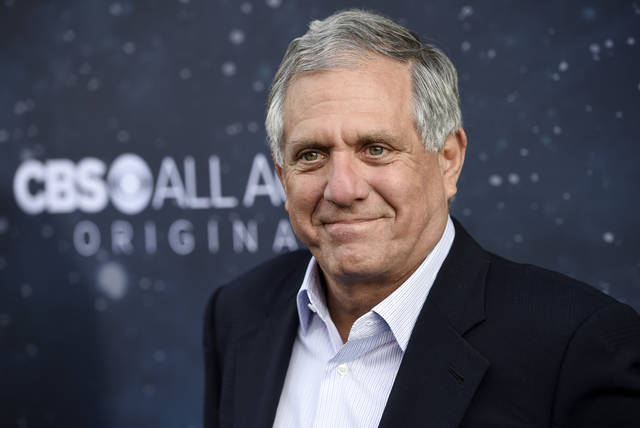 "FILE - In this Sept. 19, 2017, file photo, Les Moonves, chairman and CEO of CBS Corporation, poses at the premiere of the new television series ""Star Trek: Discovery"" in Los Angeles. With a $120 million severance package on the line, an investigation into sexual-misconduct claims against former CBS CEO Moonves will loom over the network's annual shareholders meeting on Tuesday, Dec. 11, 2018.  (Photo by Chris Pizzello/Invision/AP, File)"