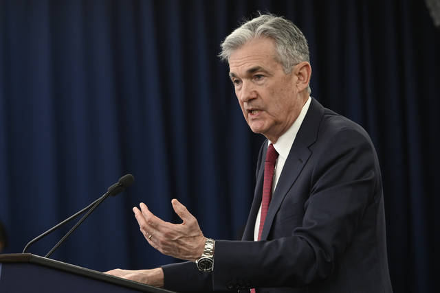 Federal Reserve Chairman Jerome Powell speaks at a news conference in Washington on Dec. 19. President Donald Trump lashed out at the Fed in a tweet Monday.