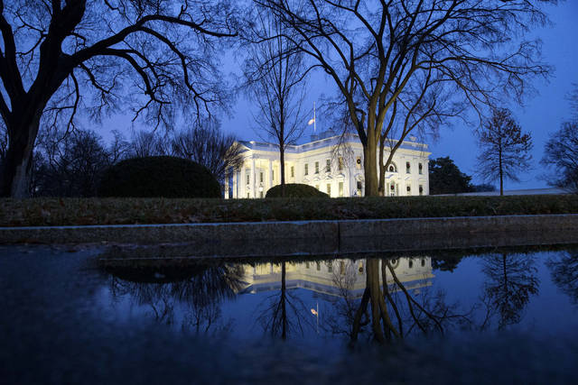 The North Portico of the White House is seen, Friday, Dec. 28, 2018, in Washington. The partial government shutdown will almost certainly be handed off to a divided government to solve in the new year, as both parties traded blame Friday and President Donald Trump sought to raise the stakes in the weeklong impasse. (AP Photo/Alex Brandon)