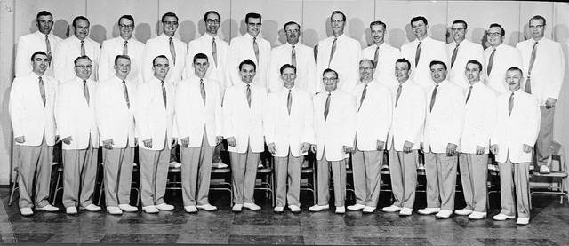 A Lima Beane Chorus publicity photo, published in promotion of a concert scheduled for Oct. 19, 1957.