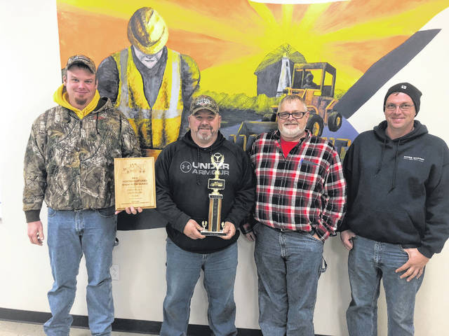 Snow Plow First Place Team: Tony Knapke, Todd Freeman, Darren Porter and Mike Steinlage.
