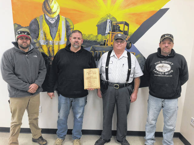 Snow Plow Second Place Team: Dusty Messner, Gary Schaublin, Gary Kuhn and Dick Gray.
