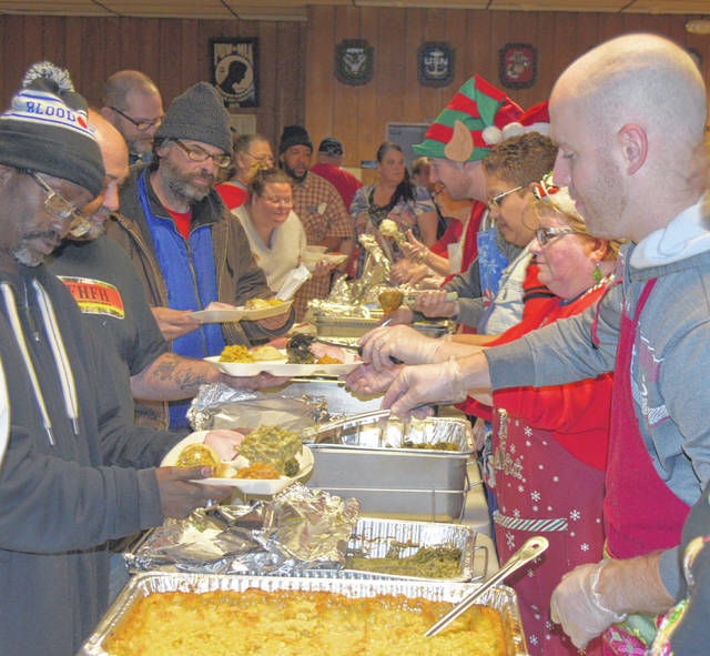 Dozens of volunteers helped make this year's Christmas dinner a success.