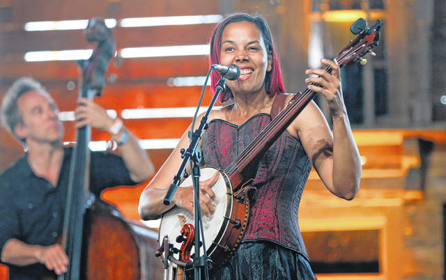 Rhiannon Giddens performs on the Mustang Stage on the first day of Stagecoach country music festival at the Empire Polo Fields in Indio, Calif., on April 28, 2017. (Allen J. Schaben / Los Angeles Times/TNS)