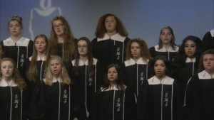 Choirs perform holiday music