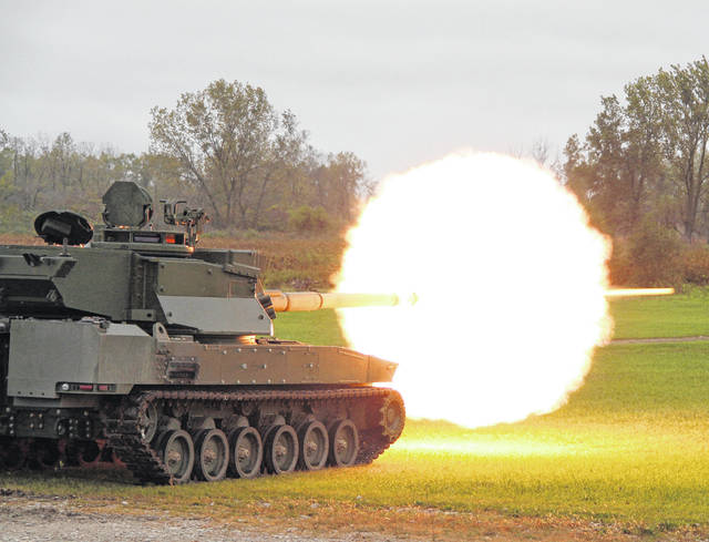 General Dynamics Land Systems will build 12 ground combat vehicle prototypes, similar to the Griffin II prototype vehicle, for the Army's Mobile Protected Firepower program.