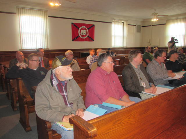 Commissioners from Putnam, Hardin, Hancock, Allen, Seneca and Wyandot counties gathered Tuesday at the Putnam County Courthouse in Ottawa for a meeting on the Blanchard River Watershed.