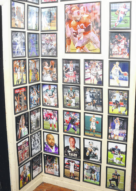 Robert Phillips' collection includes many area athletes.