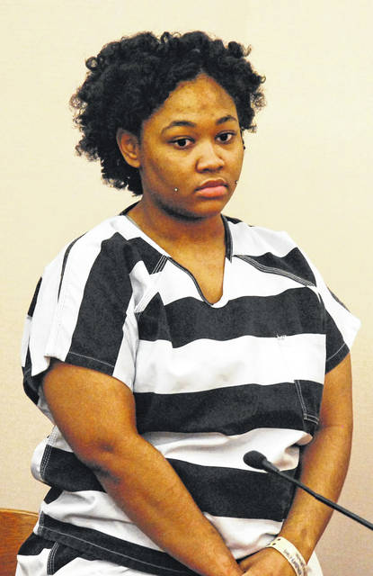 Autumn Spears, 20, of Lima, was sentenced Friday to 10 years in prison for the 2017 stabbing death of Stephan Kimble-Childress, 27, at an apartment on North Cole Street. Spears showed no emotion when the sentence was passed.