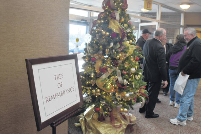 The Tree of Remembrance sits in the lobby of Chiles-Laman Funeral & Cremation Services, Shawnee Chapel.