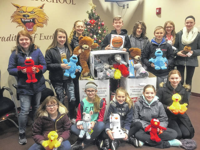 The Kalida middle school recently held the annual Toys for Tots campaign. It was exciting to see the amount of toys collected making this Christmas a little brighter for others in the community.