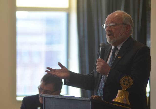 Lima Mayor David Berger delivered an update of some recent initiatives undertaken by the city during Monday afternoon's Lima Rotary meeting.