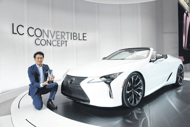 The Lexus LC convertible won an Eyeson Design Award at the 2019 North American International Auto Show.