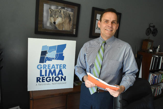 Jeff Sprague of the Greater Lima Region, in his office on South Main Street in Lima, is helming the recently-formed GLR to help attract and retain both businesses and workforce in the eight-county region surrounding Lima.