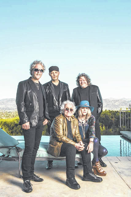 Jefferson Starship is comprised of original members David Freiberg (bottom left) and Donny Baldwin (top left), as well as Jude Gold (top middle), Chris Smith (top right) and Cathy Richardson (bottom right).
