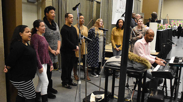 The ONU Gospel Ensemble performs Monday at the MLK breakfast at Veterans Memorial Civic Center.