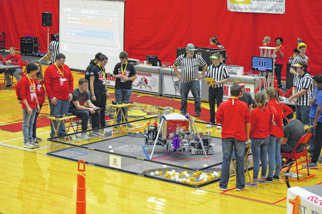 Teams from all over northwest Ohio competed in Van Wert at a state qualifier tournament in robotics.