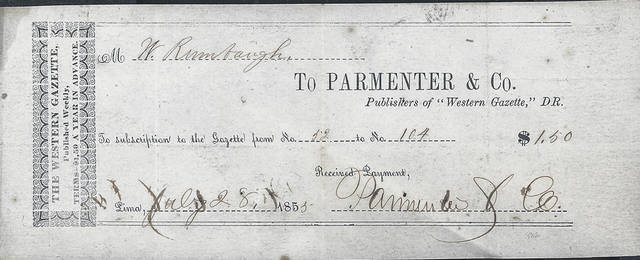 httpswwwlimaohiocomwp contentuploadssites54201901web1_labeljpg this label shows the blank book was printed by parmenter printing