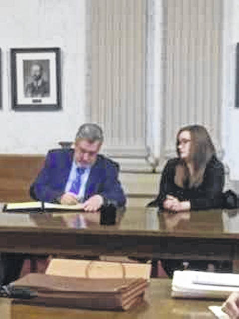 Columbus Grove resident Megan Schnipke, pictured with her attorney, Robert Grzybowski, was sentenced Friday to 60 days in the Putnam County Jail for her role in the death of a resident at Hilty Memorial Home in Pandora.