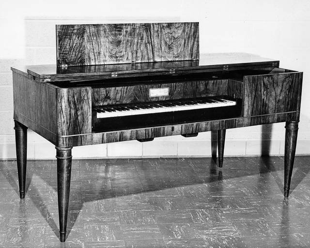 Johann Wendel Eysenbach's piano is on display at the Allen County Historical Society. It survived tribulations such as arriving in the northwest Ohio via a harrowing trip up the Mississippi and Ohio rivers to the Ohio and Erie Canal as well as a house fire.