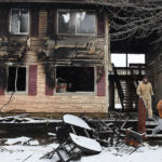 Lima apartments damaged in Monday morning fire