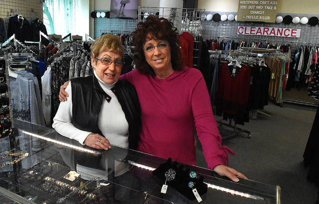 Co-owners, Karen Barrington, left, and Elizabeth Leis of Nitza's Ladies Boutique and Tailor Shop in downtown Lima have announced the business will soon be closing.