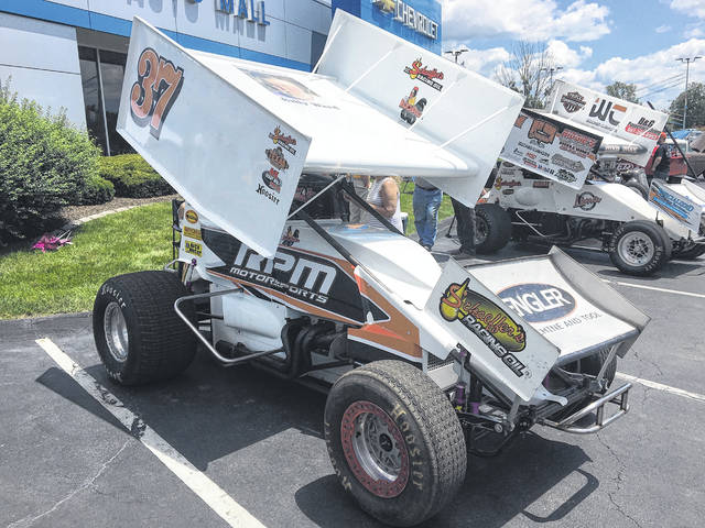 Noah Dunlap, 16, owns this Sprint car with his father and grandfather.