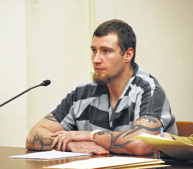 Tyler Paxson, 23, of St. Marys, was sentenced to four years in prison Tuesday on charges of robbery and abduction in connection with a drug-fueled incident with woman with whom he had been in a personal relationship. A first-degree felony count of kidnapping was dismissed earlier in the case.