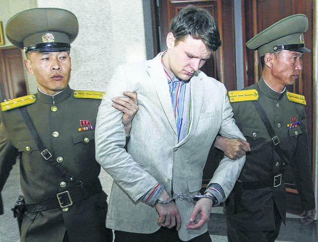 American student Otto Warmbier was released by North Korea in a coma on March 16, 2016.