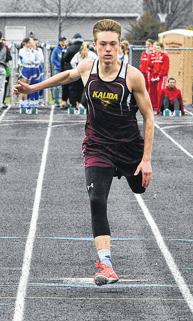 Kalida's Josh Verhoff begins the outdoor season after setting a record in winning the state indoor Division II/III 200-meter dash with a time of 21.68 seconds.