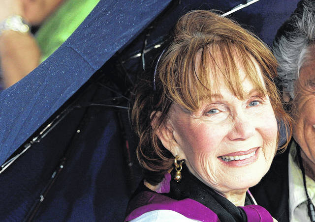 """Katherine Helmond arrives for the premiere of the Disney/Pixar animated film """"Cars"""" in 2006 at Lowe's Motor Speedway in Concord, N.C. Helmond, best known as the grandmother who was hot for housekeeper Tony Danza on """"Who's The Boss,"""" died Feb. 23 of complications from Alzheimer's disease at her home in Los Angeles, her talent agency APA announced Friday. She was 89."""