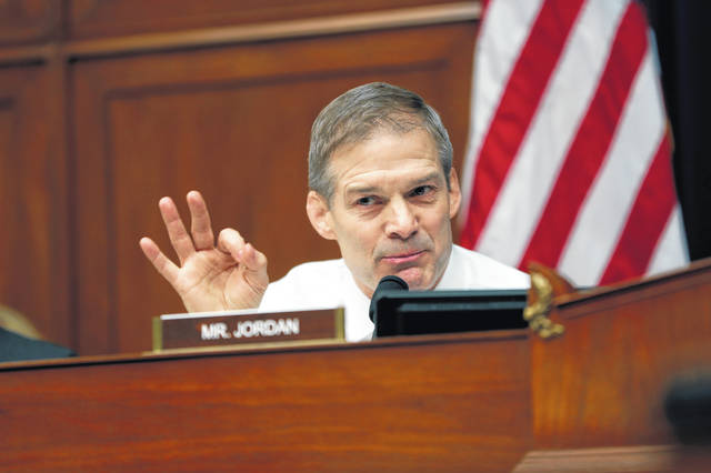 <p class=&quot;ap-serif p-0&quot;>Ranking Member Jim Jordan, R-Urbana, asks questions to Michael Cohen, President Donald Trump&#8217;s former personal lawyer, during a hearing of the House Oversight and Reform Committee on Capitol Hill in Washington on Feb. 27.