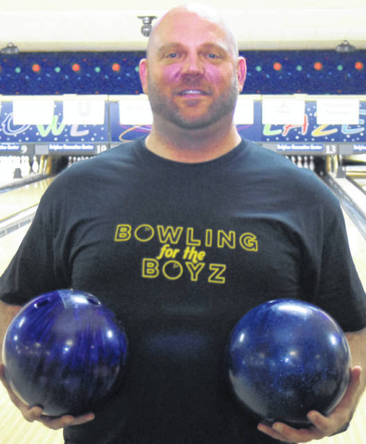 The 9th annual Bowling for the Boyz was held Saturday in Delphos. Jay Holdgreve has raised more than $70,000 through this event to help fight testicular cancer.