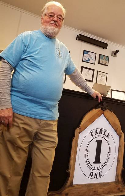 David Trinko | The Lima News Philip Compton co-founded Table One in Kenton. The restaurant lets patrons pay what they can for a meal or volunteer to work instead.