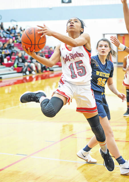 Lima Senior's Destiny McDonald (15) has been named to the All-Northwest Ohio Division I girls first team.