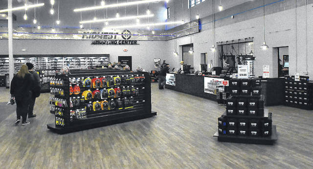 Midwest Shooting Center in Cridersville offers retail sales and shooting lanes.