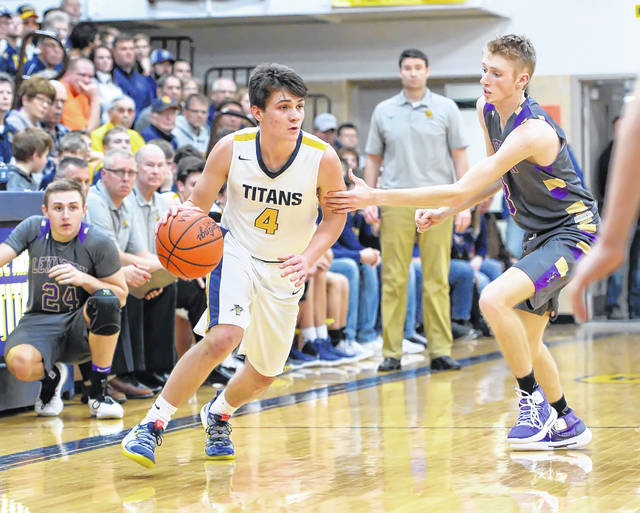 Ottawa-Glandorf's Owen Hiegel (4) has been named the All-Northwest Ohio Division III boys Co-Player of the Year,