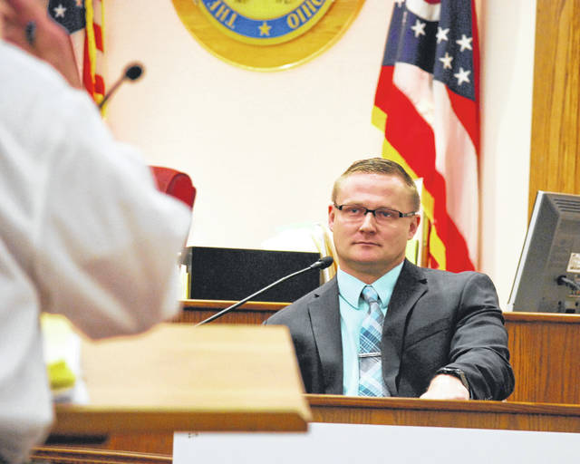 Lima Police Detective Sean Neidemire returned to the witness stand Friday in the murder trial of Lima resident Gabriel Salyers.