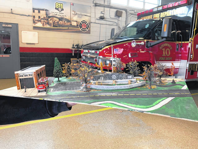 The Allen County 9/11 Memorial Foundation and Shawnee Township Fire Department have worked with local landscape artists to create a model for the memorial.