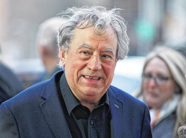 """This April 24, 2015 file photo shows Terry Jones at a special Tribeca Film Festival screening of """"Monty Python and the Holy Grail"""" in New York. Celebrations for the 40th anniversary of the Monty Python comedy classic """"Life of Brian"""" are being somewhat overshadowed by the health news of Jones. Jones is """"very robust"""" although """"on the downhill slope"""" due to dementia, according to his friend and colleague Michael Palin. Jones was diagnosed in 2015 with a form of dementia that impairs the ability to speak."""