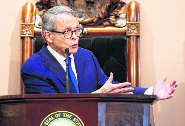 "Ohio Governor Mike DeWine said ""in the immediate future, you cannot dramatically reduce carbon or keep those numbers down without using nuclear."" AP File Photo"